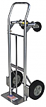 "Steel Convertible Hand Truck W/ 10"" Solid Puncture Proof Tires"