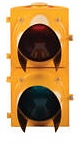 Yellow Aluminum Dock  Traffic Control Light thumb