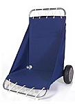 Folding Fabric Beach Cart With Rugged Wheels