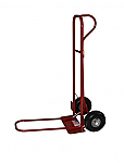 "P-handle Steel Hand Truck- 30"" Folding Nose & 10"" Pneumatic Wheels thumb"