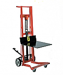 Four Wheel Foot Pump Platform Lift Truck  thumb