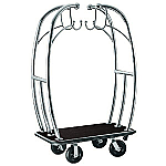 "Angel Style 2"" Tubing Stainless Steel Hotel Cart thumb"