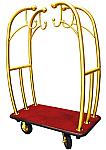 Monarch Bell-Man Cart Brass/Red Carpet