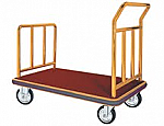 Luxurious Hotel Platform Luggage Cart Brass Finish thumb