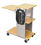 Boardroom Presentation Cart - Nickel