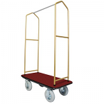 Bell Man Cart-Economy With Brass Uprights thumb