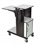 Adjustable AV Cart with Cabinet