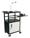 Computer Work Station with Side Pull Out Shelf  And Cabinet
