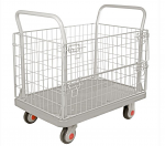 "Wire Cage Silent Platform Cart 1000lb capacity 23"" Wide x 36"" Long"