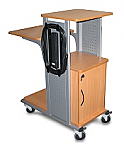 Boardroom Presentation Cart with Cabinet(Nickel)