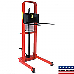 Hydraulic Fork Stacker Lift Truck 1000 lb. Capacity