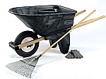 Rubbermaid Black Wheel Barrow thumb