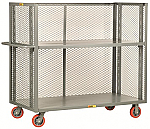 Adjustable Shelf Truck - 3 Mesh Sides thumb