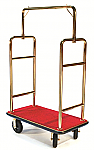 CSL Single Curved Bar Top Bellman Cart-Gold/Red thumb