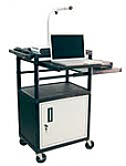 Computer Work Station with Side and Front Pull Out Shelf & Cabinet