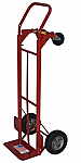 """Steel Convertible Hand Truck W/ 8"""" Solid Puncture Proof Tires thumb"""