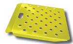 "Safety Yellow Hand Truck Curb Ramp 22"" Wide x 24"" Long"