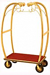 Luxurious Bellman Cart Luggage Cart Brass Finish