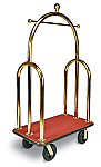 CSL Curved Style Bell Man Cart Red Carpet Gold Uprights  thumb