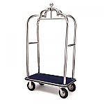 Forbes Elegant Stainless Steel Bellman Cart