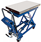 Scissor Lift Table Cart with Built In Scale