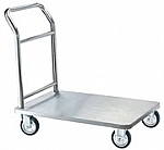 Chrome Hotel Platform Luggage Cart thumb