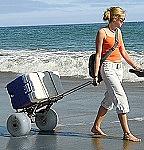 Folding Beach Cart - Big 30 CM Soft Beach Wheels thumb
