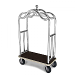 Forbes Ultra Luxurious Stainless Steel Bellman Cart