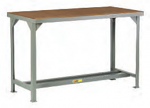 Welded Steel Workbench With Wooden Top thumb