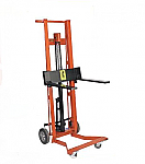 Four Wheel Hydraulic Stacker Lift Truck-Fork Style thumb
