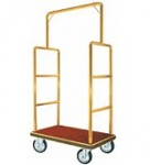 Bar Top Brass Hotel Bellman Luggage Cart thumb