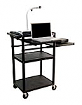 Computer Work Station with Side and Front Pull Out Shelf