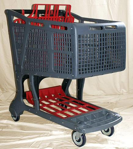All Plastic Shopping Cart - Great for Outdoors, Will Not Rust